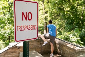 Gibson Bonds how to charge with trespassing